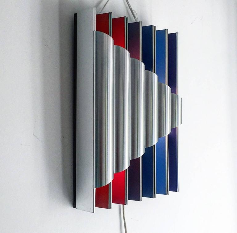 Mid-Century Modern 1960s Limited Edition Pan Opticon Wall Sconce Bent Karlby for Lyfa, Denmark