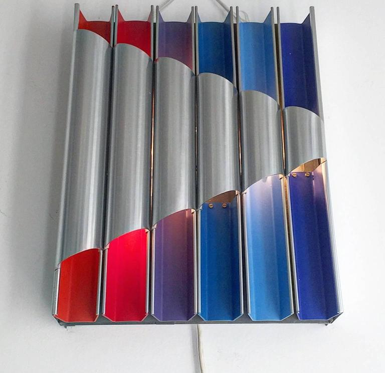 Mid-20th Century 1960s Limited Edition Pan Opticon Wall Sconce Bent Karlby for Lyfa, Denmark