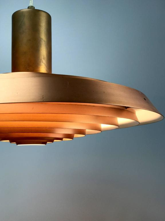 Poul Henningsen Copper Plate Pendant by Louis Poulsen For Sale 1