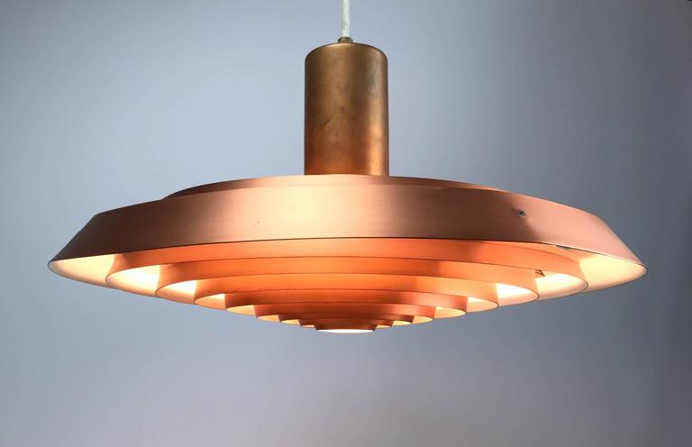 Poul Henningsen Copper Plate Pendant by Louis Poulsen For Sale 2
