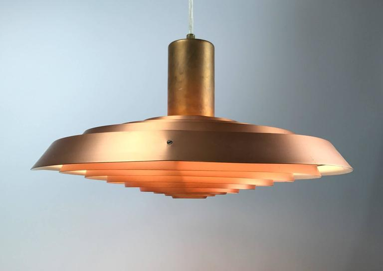 Poul Henningsen Copper Plate Pendant by Louis Poulsen For Sale 4