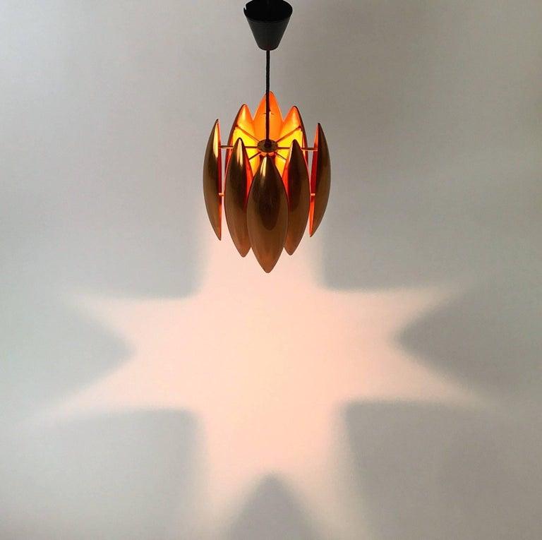 Danish Copper Ceiling Pendant by Jo Hammerborg for Fog Morup, Denmark For Sale