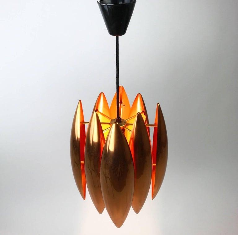 Copper Ceiling Pendant by Jo Hammerborg for Fog Morup, Denmark For Sale 1