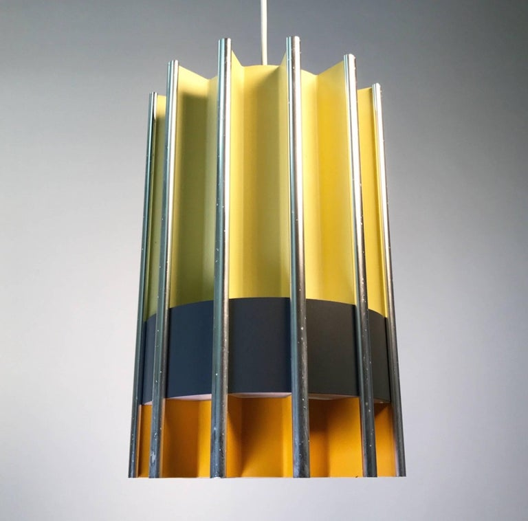 Danish Rare Ceiling Pendant by Bent Karlby for Lyfa, Mid-1960s, Denmark For Sale