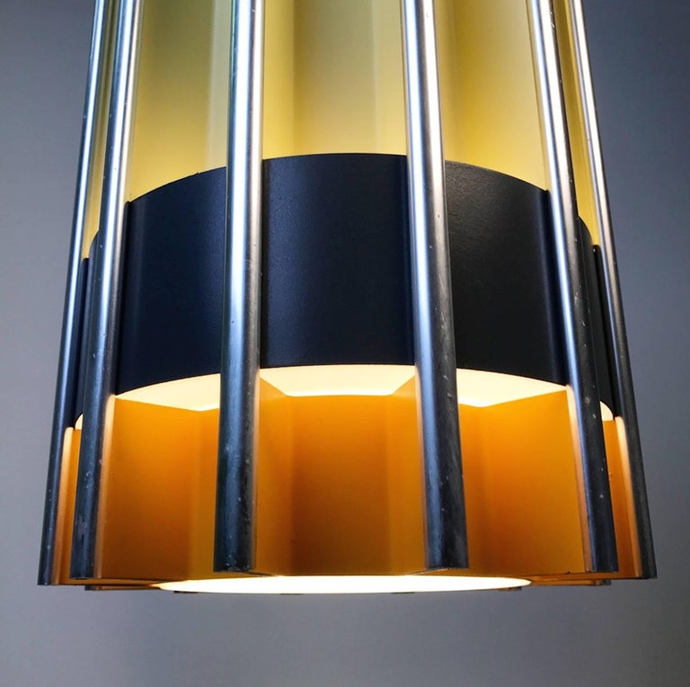 Rare Ceiling Pendant by Bent Karlby for Lyfa, Mid-1960s, Denmark In Excellent Condition For Sale In Haderslev, DK