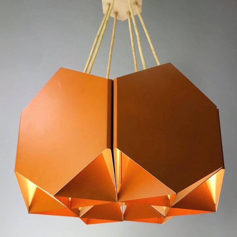 Mid-20th Century Very Unique Chandelier by Ole Panton for Lyfa of Denmark, Mid-1960s For Sale