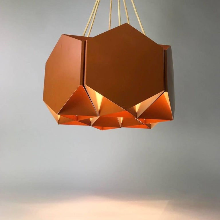 Very Unique Chandelier by Ole Panton for Lyfa of Denmark, Mid-1960s For Sale 2