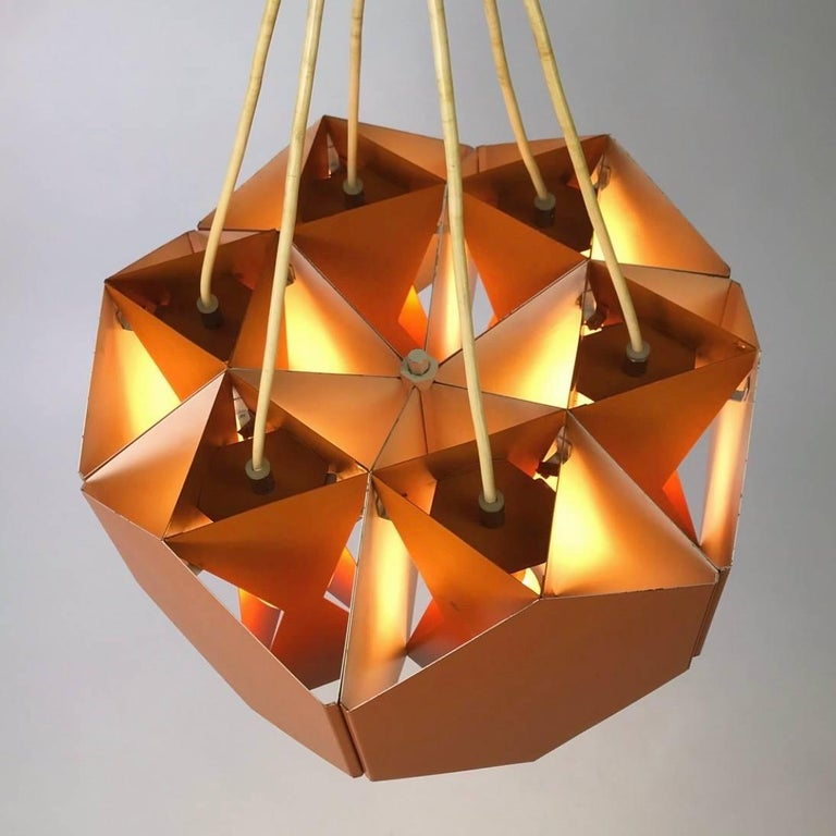 Very Unique Chandelier by Ole Panton for Lyfa of Denmark, Mid-1960s For Sale 3