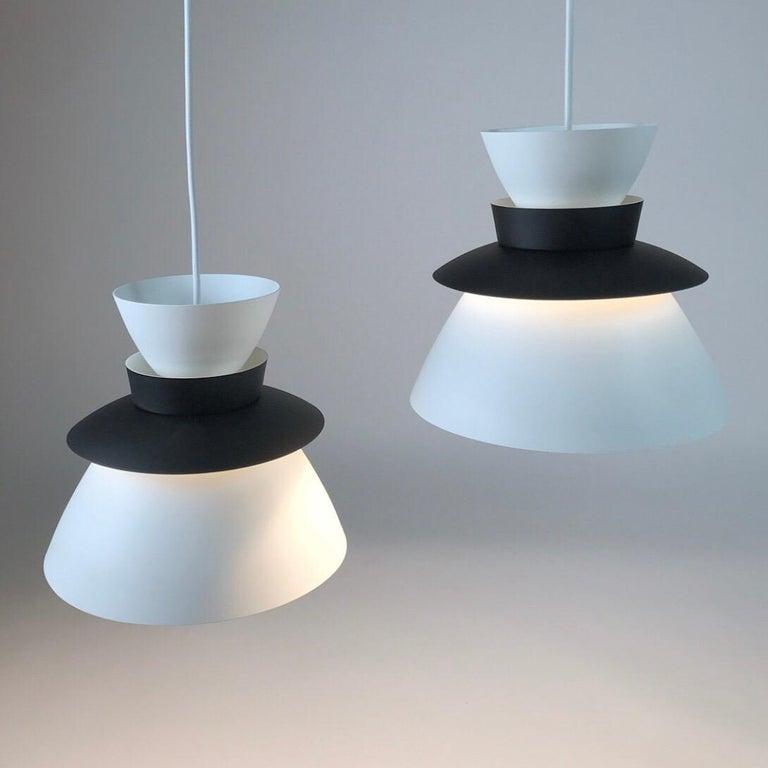 Scandinavian Modern U336 Ceiling Lights by Jorn Utzon for Artek, Finland, 1957 For Sale