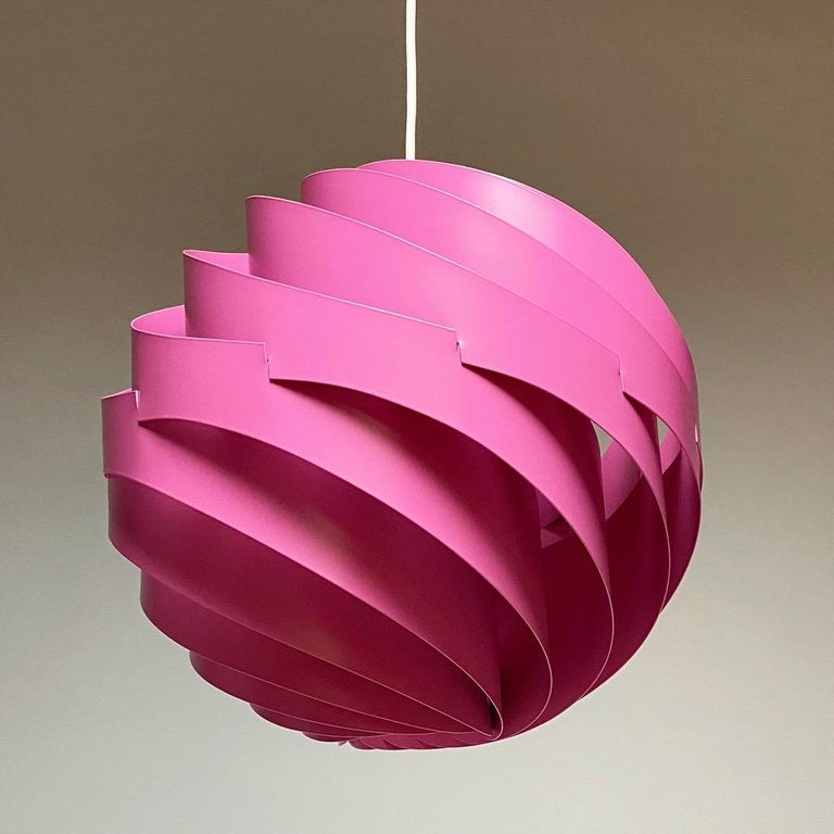 Pink Turbo Ceiling Light by Louis Weisdorf for LYFA, Denmark, 1970 For Sale 1