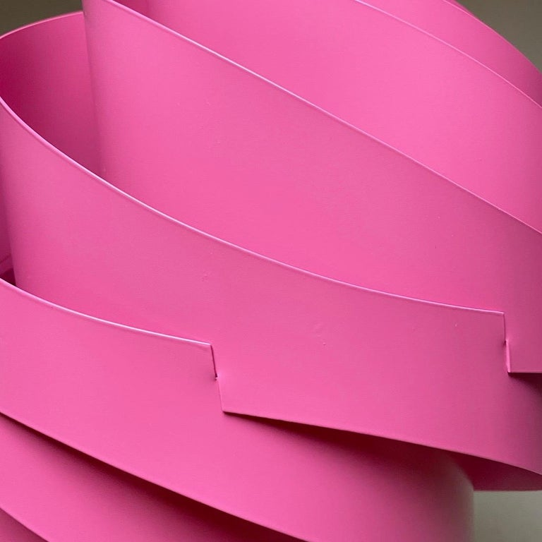 Pink Turbo Ceiling Light by Louis Weisdorf for LYFA, Denmark, 1970 For Sale 2