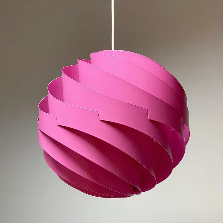 Pink Turbo Ceiling Light by Louis Weisdorf for LYFA, Denmark, 1970 For Sale 5