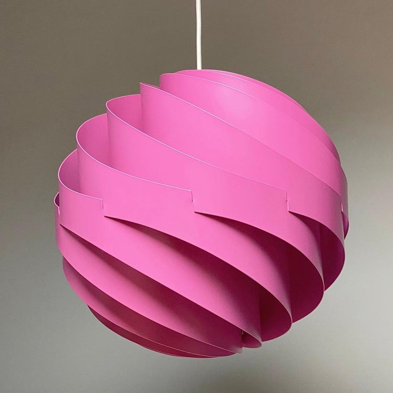 Pink Turbo Ceiling Light by Louis Weisdorf for LYFA, Denmark, 1970 For Sale 6