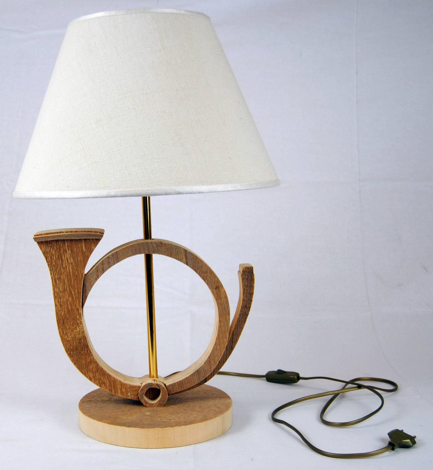 wood horn table lamp by michelangeli italy for sale at 1stdibs. Black Bedroom Furniture Sets. Home Design Ideas