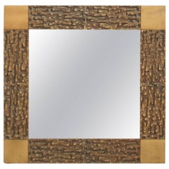 Mirror in Bronze by Luciano Frigerio
