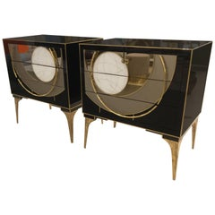 Pair of Italian Venetian Chests, circa 1960