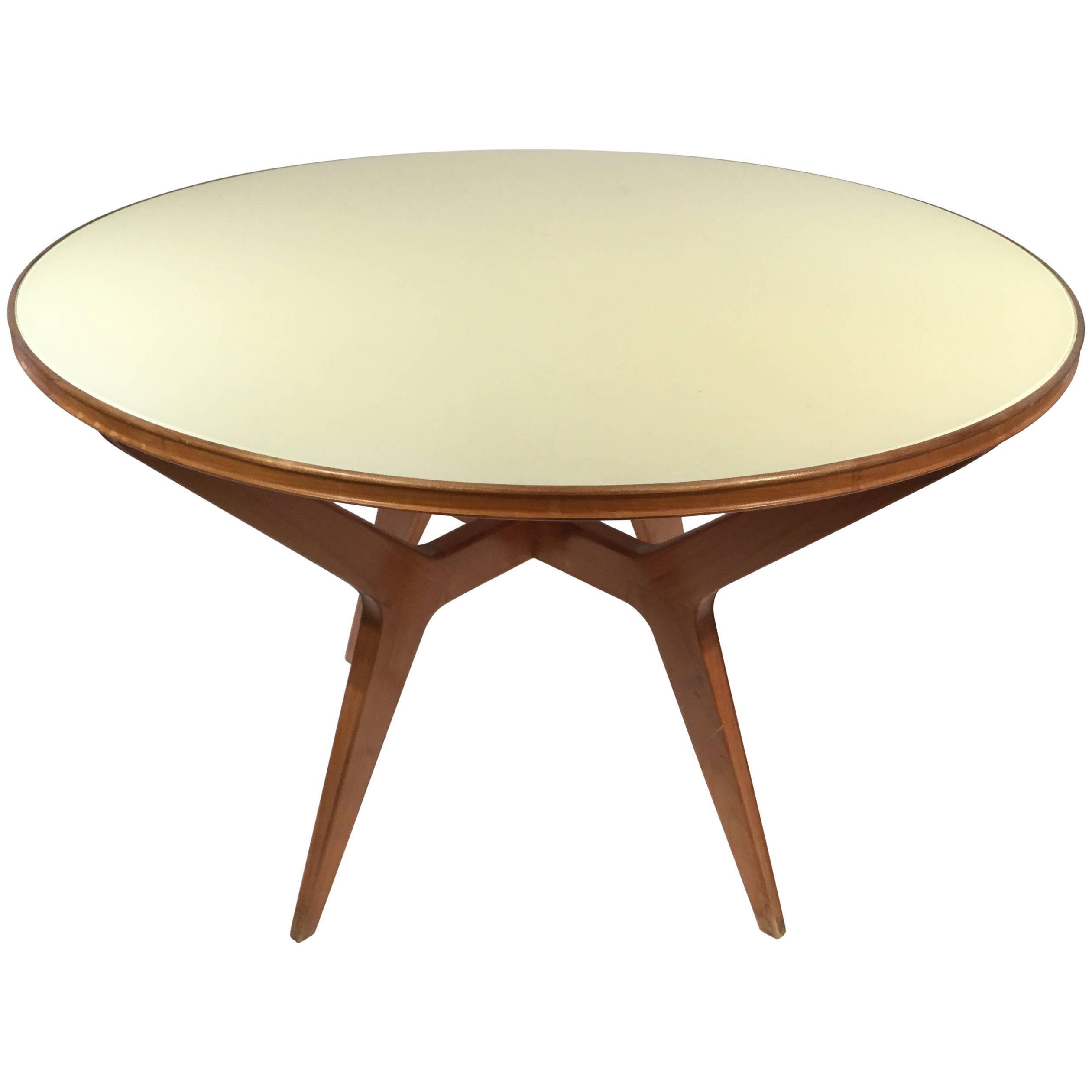 Italian Designed Circular Dinning Table, Attributed to Ico Parisi, 1950