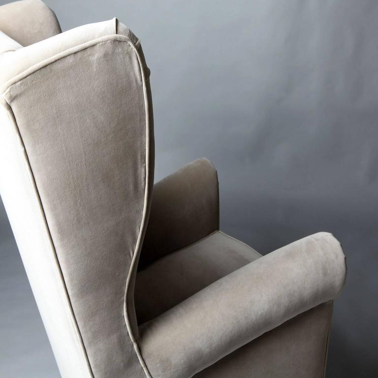 Mid-Century Modern Pair of Armchairs in the Style of Gio Ponti, 1950 For Sale