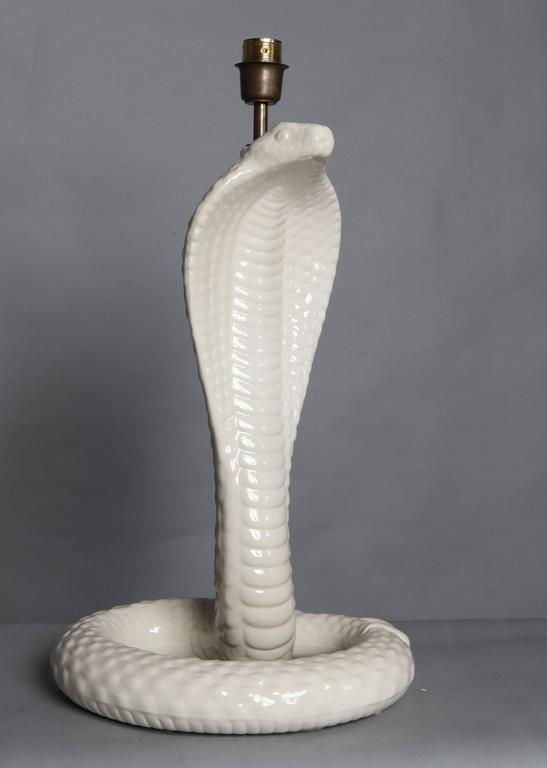 "Italian designed ""Cobra"" table lamp designed by Tommaso Barbi signed