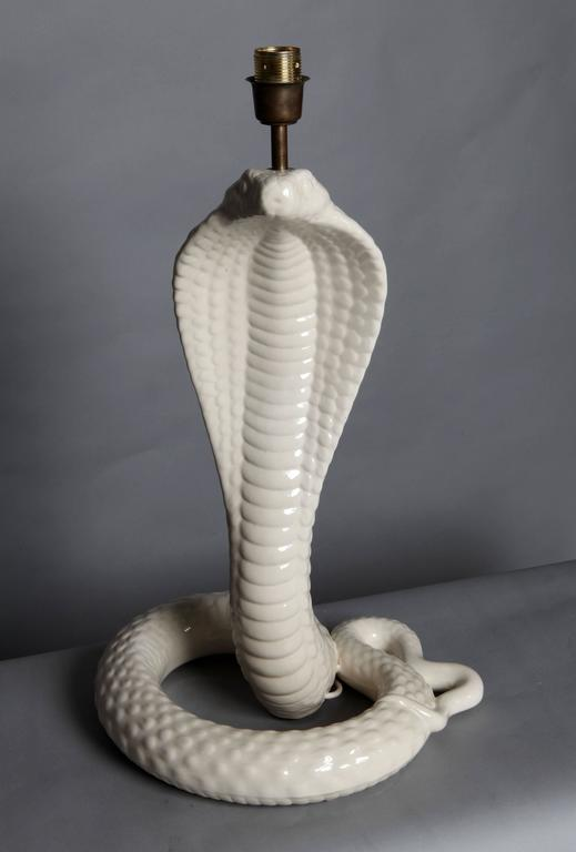"Italian ""Cobra"" Table Lamp Designed by Tommaso Barbi, circa 1970 In Excellent Condition For Sale In London, GB"