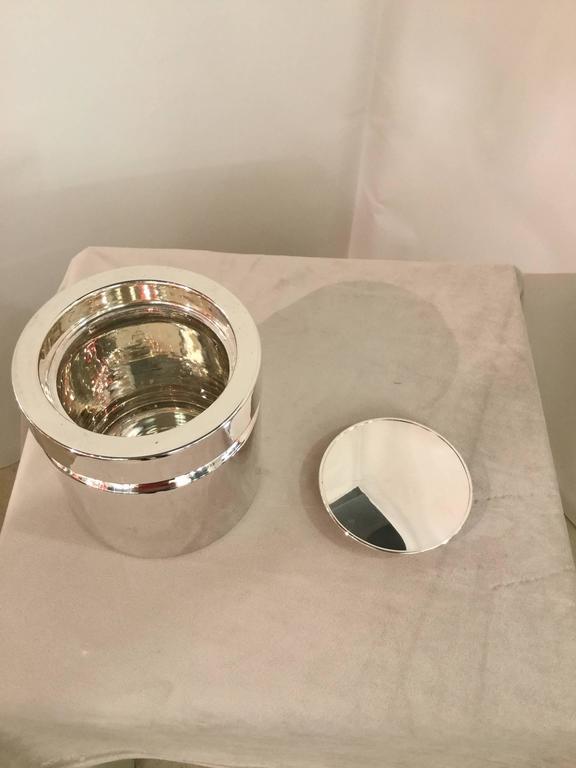 Modern Sabattini Silver Plate Ice Bucket For Sale