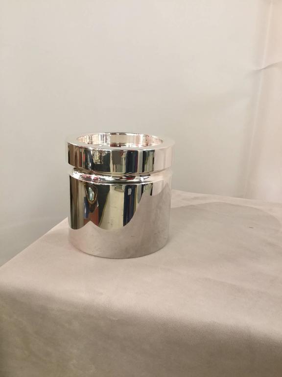Italian Sabattini Silver Plate Ice Bucket For Sale