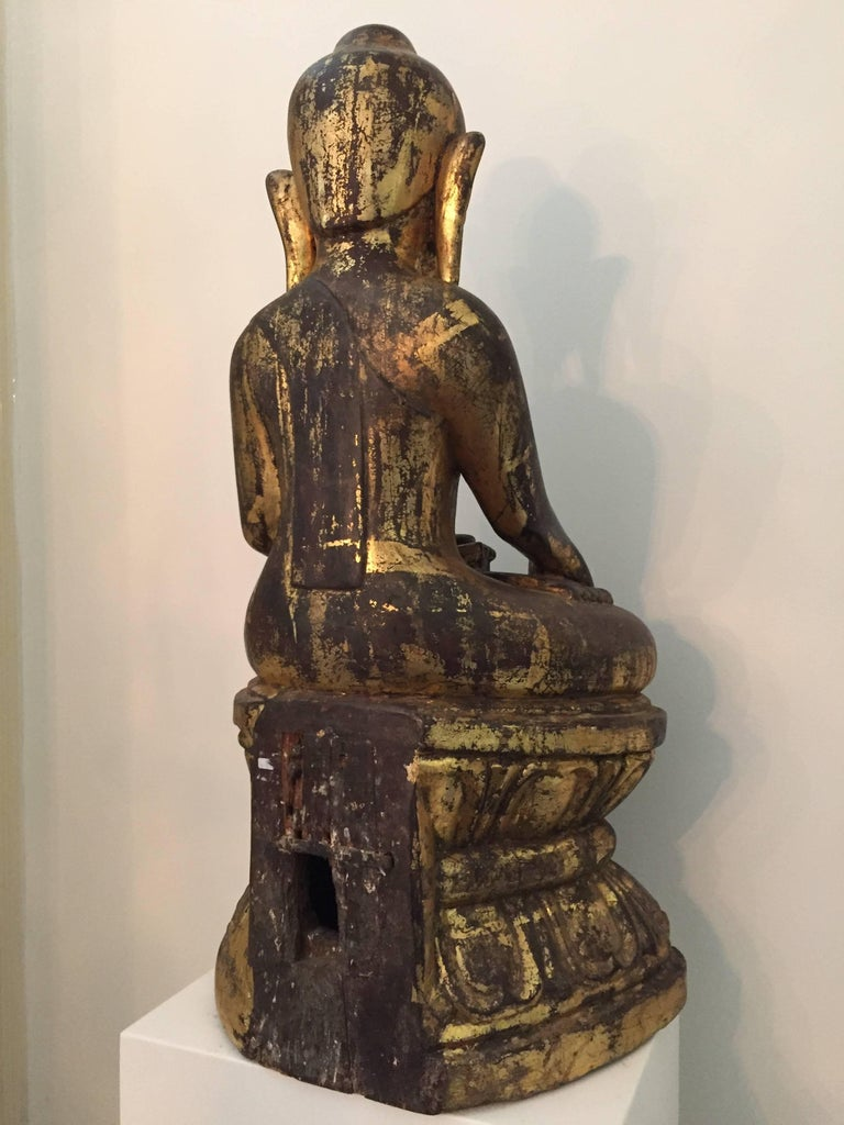 Burmese Wooden Buddha, 18th Century For Sale 1