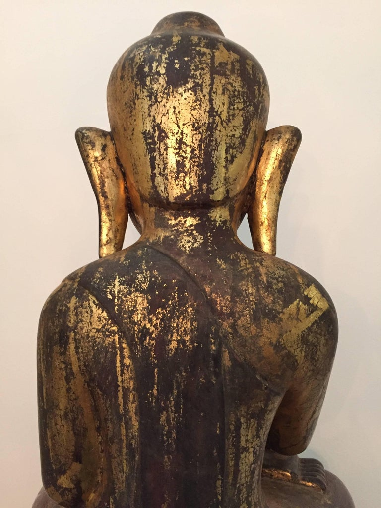 Burmese Wooden Buddha, 18th Century For Sale 2