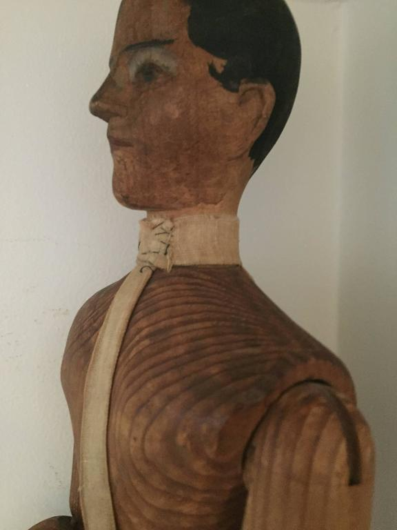Polychromed Lay Figure or Artist Mannequin, 19th Century For Sale