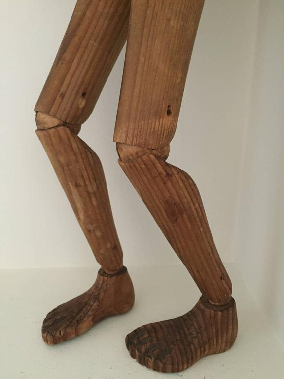 Wood Lay Figure or Artist Mannequin, 19th Century For Sale