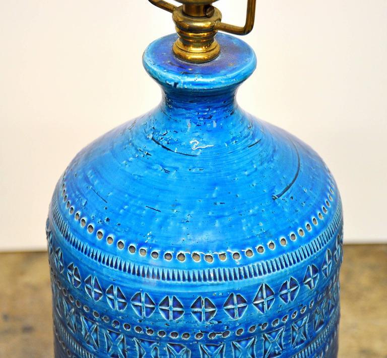 Aldo Londi for Bitossi Rimini Blu Italian Ceramic Lamp, circa 1960 2