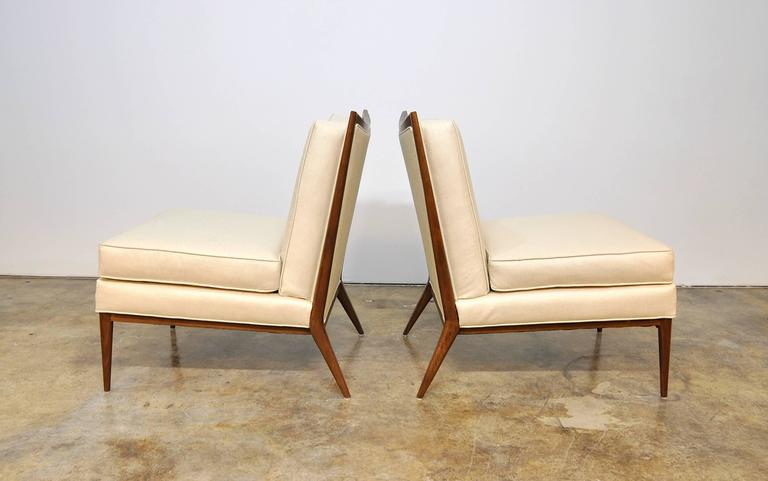 Mid-Century Modern Pair of Paul McCobb for Directional 1320 Slipper Chairs For Sale