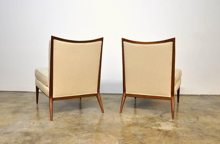 Mid-20th Century Pair of Paul McCobb for Directional 1320 Slipper Chairs For Sale