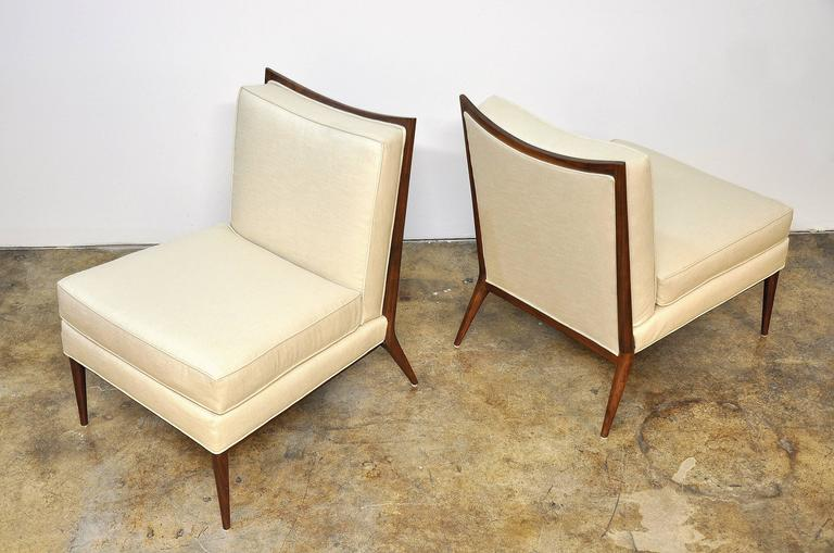 Pair of Paul McCobb for Directional 1320 Slipper Chairs For Sale 2
