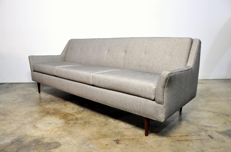 Mid century modern milo baughman style sofa at 1stdibs for Mid century furniture florida