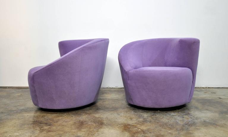 Great Pair Of Vladimir Kagan Directional Nautilus Swivel Chairs 2