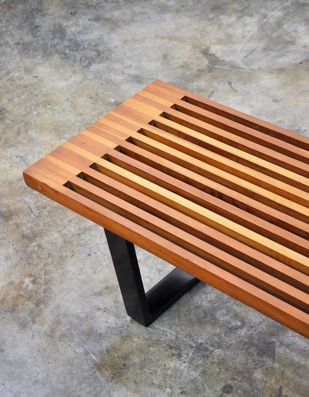 Mid Century Modern George Nelson Style Slat Bench At 1stdibs