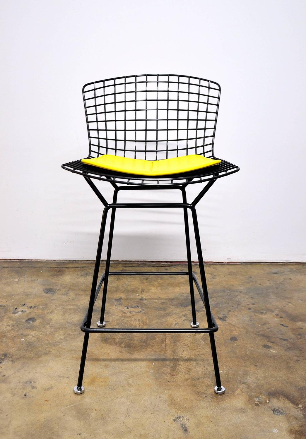 Knoll harry bertoia black bar stool for sale at 1stdibs - Tabouret bar bertoia ...