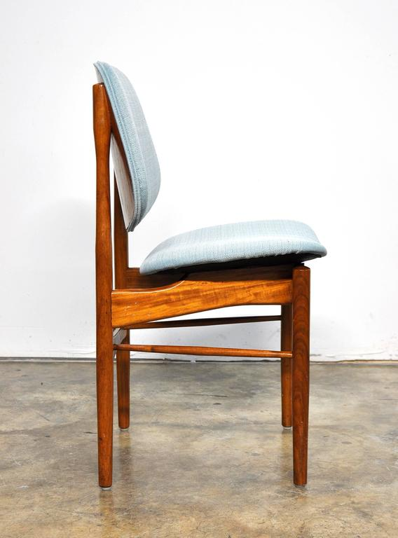 Set of Four Teak Dining Chairs, Attributed to Finn Juhl In Good Condition For Sale In Miami, FL