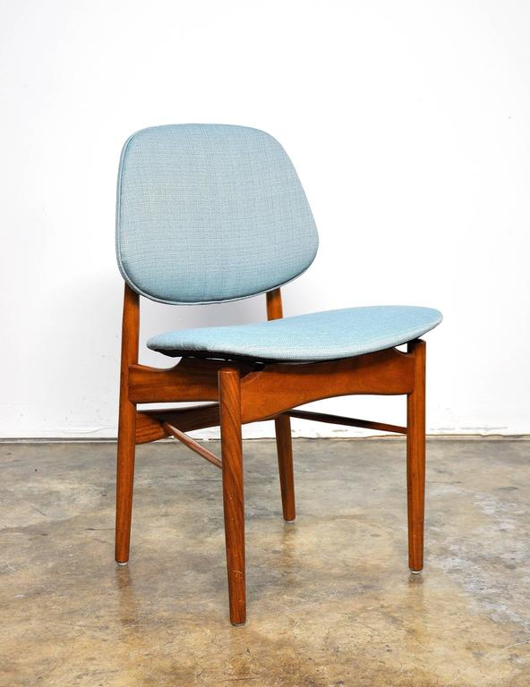 Scandinavian Modern Set of Four Teak Dining Chairs, Attributed to Finn Juhl For Sale