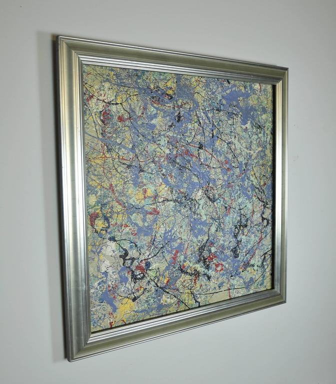 Expressionist Provence, Abstract Acrylic Painting by John Frates For Sale