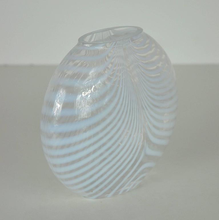Bertil Vallien For Kosta Boda Opalescent Art Glass Zebra