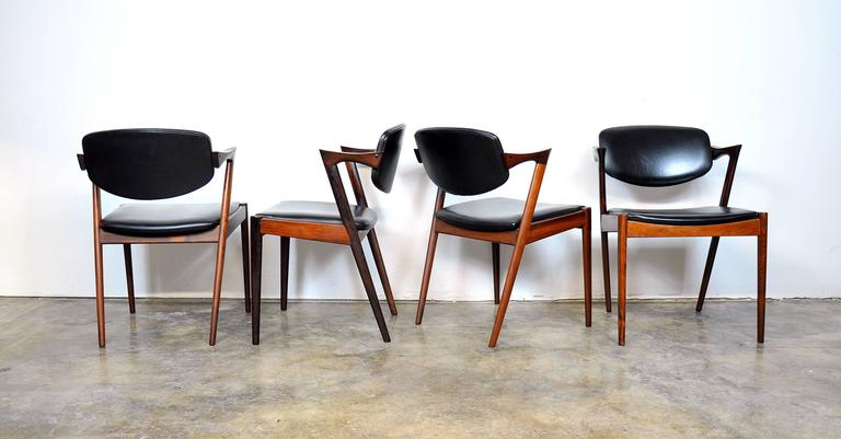 Set of Four Kai Kristiansen Model 42 Rosewood Dining Chairs 2