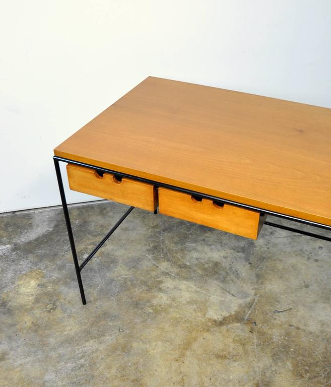 Paul McCobb Winchendon Iron and Maple Coffee Table 7