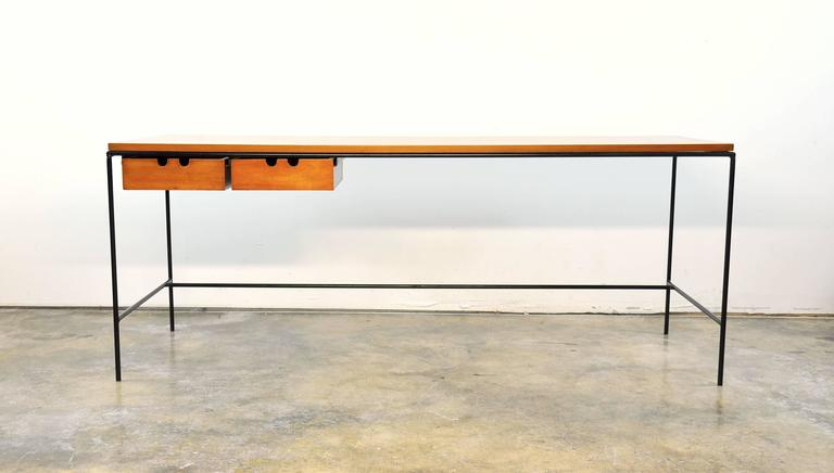 Paul McCobb Winchendon Iron and Maple Coffee Table 2