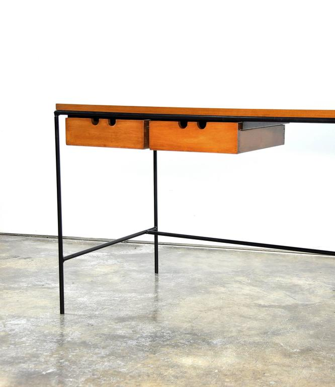 Paul McCobb Winchendon Iron and Maple Coffee Table 6