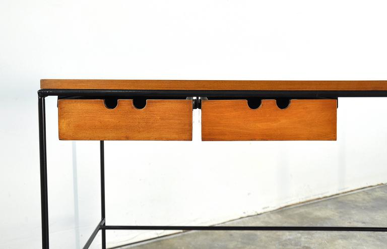 Paul McCobb Winchendon Iron and Maple Coffee Table 9