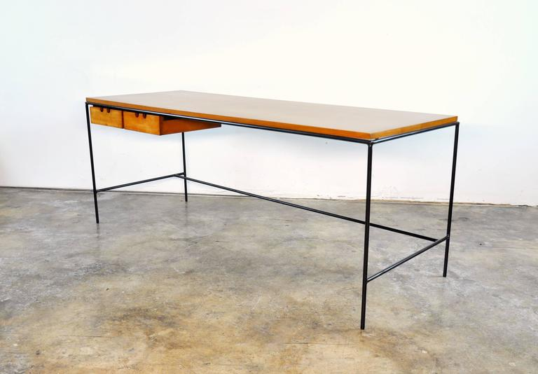 Paul McCobb Winchendon Iron and Maple Coffee Table 3