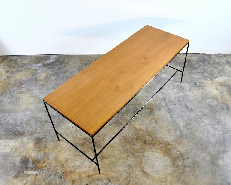 Paul McCobb Winchendon Iron and Maple Coffee Table 5