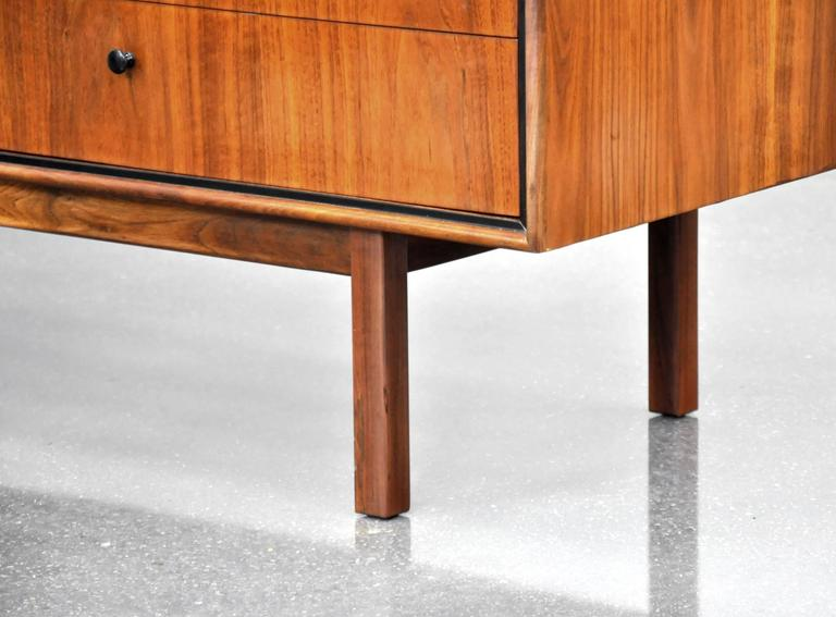 Milo Baughman for Arch Gordon Walnut Double Dresser 5